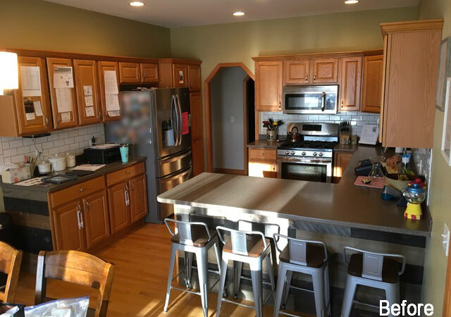 Kitchen of the Month Winner for Cabinet Refacing for July